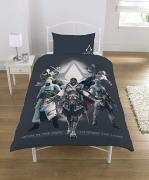 Assassin' S Creed Polycotton Panel Single Bed Duvet Quilt Cover Set