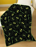 Rick & Morty Rotary Fleece Blanket Throw