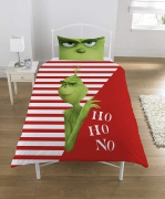 The Grinch Panel Single Bed Duvet Quilt Cover Set