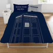 Doctor Who Classic Tardis Panel Double Bed Duvet Quilt Cover Set