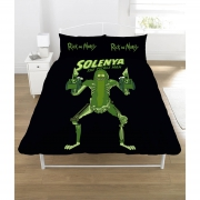 Rick & Morty Pickle Panel Double Bed Duvet Quilt Cover Set