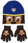 Paw Patrol Boys 'Chase' 2 Piece Winter Set Hat & Glove One Size Kids Accessories