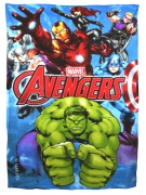Avengers 'Force' Panel Fleece Blanket Throw