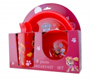Paw Patrol 'Pawsome' 5 Piece Breakfast Dinner Set