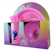 Shimmer & Shine 'What' S Your Wish' 5 Piece Breakfast Dinner Set