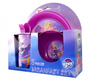 My Little Pony 'Friendship' 5 Piece Breakfast Dinner Set