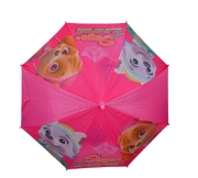 Paw Patrol Girls 'Pink' Full Panel Automatic School Rain Brolly Umbrella