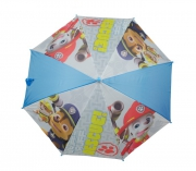 Paw Patrol Boys 'Light Blue' Full Panel Automatic School Rain Brolly Umbrella