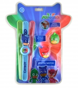 Disney Pj Masks 'Glow In The Dark Straps' Snap Band Wrist Watch