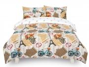 Vintage Paris 'Cream' single double king bedding duvet cover set