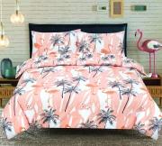 Todd Linens Flamingo Land 'Peach' Reversible single double king duvet cover set