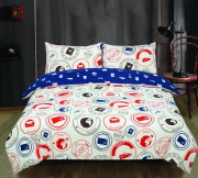 Todd Linens London to Paris Post 'Cream' single double king duvet cover set