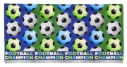 Kid's Beach Towel Football Goal Fc Printed