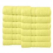 Bale Set 12pcs Lemon Plain Face Towel