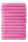 Bale Set 12pcs Pink No Border Plain Face Towel