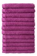 Bale Set 12pcs Purple No Border Plain Face Towel