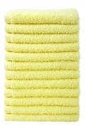 Bale Set 12pcs Lemon No Border Plain Face Towel