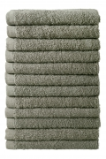 Bale Set 12pcs Ash Grey No Border Plain Face Towel