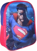 Superman 'Man of Steel' Pvc Front School Bag Rucksack Backpack