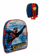 Superman 'Save The World' Pvc Front School Bag Rucksack Backpack
