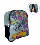 Mr.men Little Miss School Bag Rucksack Backpack