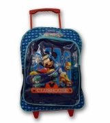 Disney Mickey Mouse Pvc Front School Travel Trolley Roller Wheeled Bag