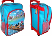 Disney Mickey Mouse 'Rollcaster' School Travel Trolley Roller Wheeled Bag