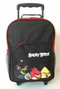 Angry Bird Black School Travel Trolley Roller Wheeled Bag