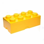 Lego Storage Brick '8 Yellow' Box