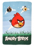 Angry Birds 'Watch Out' Panel Fleece Blanket Throw