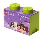 Lego Friends 2 Brick 'Lime' Storage Box