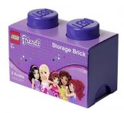 Lego Friends 2 Brick 'Lilac' Storage Box
