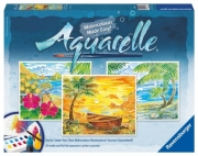 Aquarelle Maxi 'Beach Paradise' Watercolor Stationery