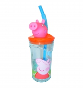 Peppa Pig '3d Head' Bottle with Straw