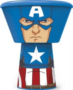 'Captain America' Stacking 3 Piece Meal Set Dinner