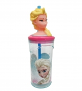 Disney Frozen Elsa '3d Head' Bottle with Straw