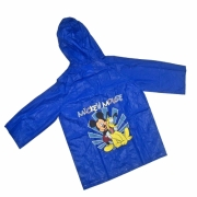 Disney Mickey Mouse and Pluto Blue 8 Years Raincoat