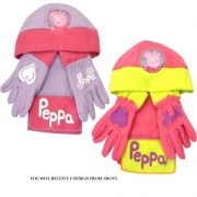 Peppa Pig Assorted Hat, Gloves and Scarf Set Kids Accessories