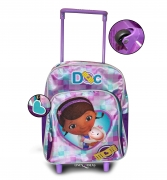 Disney Doc Mcstuffins Medium Backpack School Travel Trolley Roller Wheeled Bag