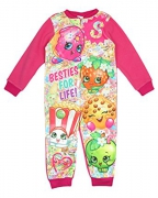 Shopkins Girls Pink 'Fleece' 3-8 Years Jumpsuit