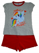 My Little Pony 'Follow Your Heart' Girls Short Pyjama Set 7-8 Years