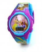 Disney Princess 'Belle & Friends' Girls Digital Metal Tin Gift Wrist Watch