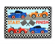 Designer Mat 'Racing' Kids Rug