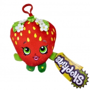 Shopkins 'Strawberry Kiss' Hanging Plush Backpack Clip School Bag Rucksack