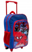 Spiderman 'Force' Boys Trolley Backpack School Travel Roller Wheeled Bag