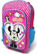 Disney Minnie Mouse Luggage Deluxe School Travel Trolley Roller Wheeled Bag