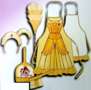 Disney Princess 'Belle' Yelow Cleaning Set Costume