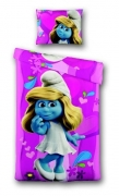 The Smurfs 'Movie 3d' Pink Panel Single Bed Duvet Quilt Cover Set
