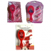 Disney Hair Brush with Clips 'Princess, Minnie, Hello Kitty' Assorted Accessory Set Girls Accessori