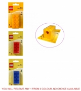 Lego Brick 'Shaped ' Yellow, Red, Blue' Assorted Sharpener Stationery